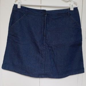 Denim skort with pockets